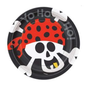 Pirate Fun Dessert Plates 18cm, pk8