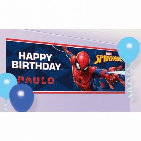 Spider-Man Customisable Plastic Banners 120cm x 45cm