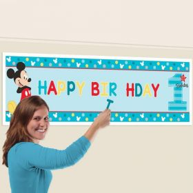 Mickey Mouse Fun To Be One Personalised Giant Banner Kit