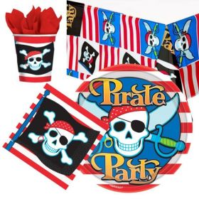 Pirate Party Tableware Pack for 8