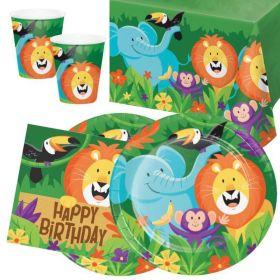Jungle Safari Party Tableware Pack for 16