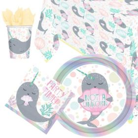 Narwhal Party Tableware Party Pack for 8