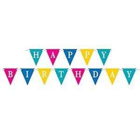 Confetti Cake Party Flag Banner, 9ft