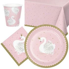 Swan Party Tableware Pack for 8