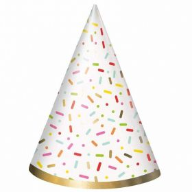Donut Party Hats, pk8