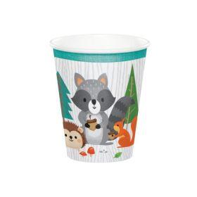 Wild Woodland Animals Cups 266ml, pk8