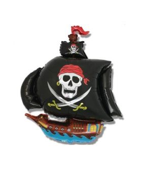 Pirate Ship Shaped Foil Balloon