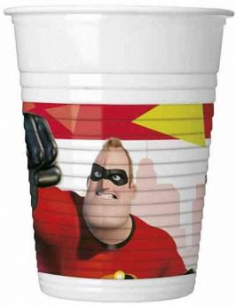 The Incredibles 2 Party Plastic Cups 200ml, pk8