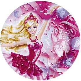 Barbie Pink Shoes Paper Plates 23cm, pk8