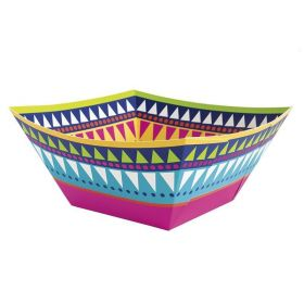 Boho Mexican Fiesta Paper Bowl 22.5cm x 22.5cm