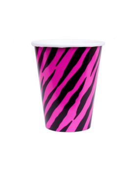 pink & black party cups