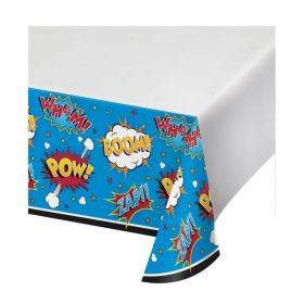 Superhero Slogans Plastic Tablecover 1.22m x 2.24m