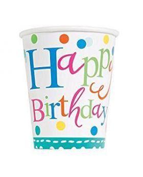 Confetti Cake Birthday Cups, 90z, pk8