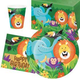 Jungle Safari Party Tableware Pack for 8