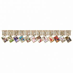 Sparkling Golden Anniversary Prismatic Photo Garlands