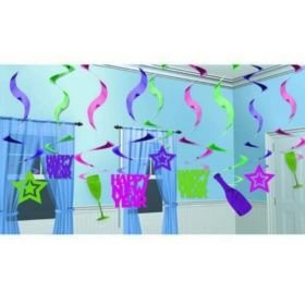 New Year's Eve Hanging Swirl Party Decorations