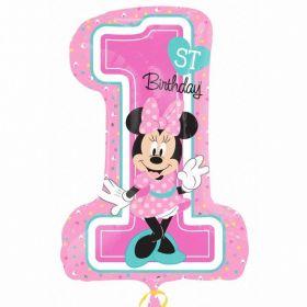 Minnie Mouse 1st Birthday SuperShape Foil Balloon