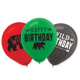 "Little Lumberjack Latex Balloons 11"", pk6"