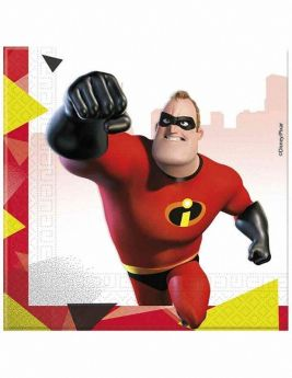 The Incredibles 2 Party Napkins 33cm x 33cm, pk20