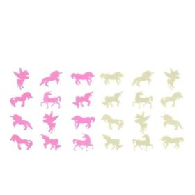 White and Pink Glow Unicorns, pk24