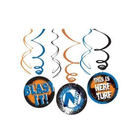 NERF Party Swirl Decorations, pk6