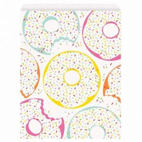 Donut Party Paper Treat Bags, pk8