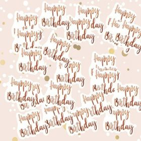 Rose Gold Happy Birthday Confetti 14g