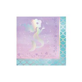 Mermaid Shine Napkins 33cm x 33cm, pk16