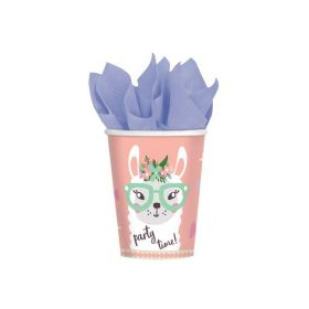 Llama Party Time Cups 250ml, pk8