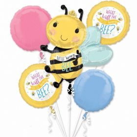 What Will It Bee? Foil Balloon Bouquet, pk5