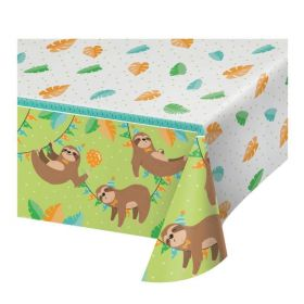 Sloth Party Tablecover 1.37m x 2.59m