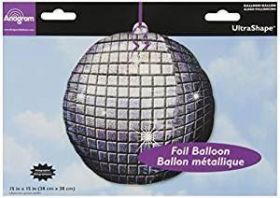 Disco Ball Holographic UltraShape Foil Balloon