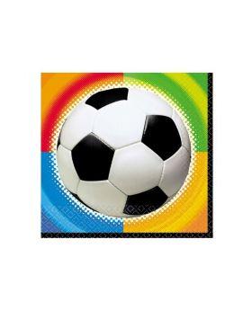 Championship Soccer Party Napkins 33cm x 33cm, pk16