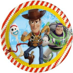 Toy Story 4 Party Plates 23cm, pk8