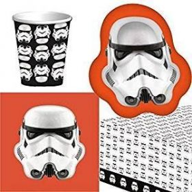 Stormtrooper Party Tableware Pack for 8