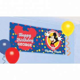 Mickey Mouse Personalised Banners 1.2m x 45cm