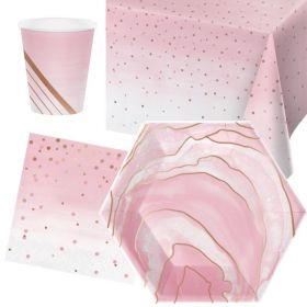 Rose All Day Party Tableware Pack for 8