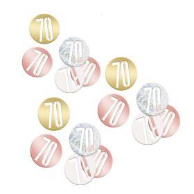Glitz Rose Gold Age 70 Confetti 14g