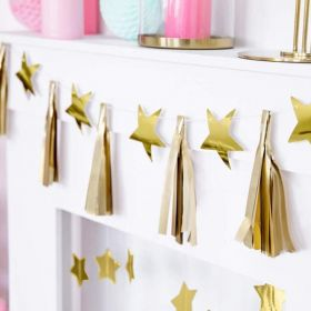 Gold Stars Paper Garland 1.3m