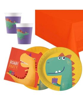 Dinosaur Roar Party Tableware Pack for 16