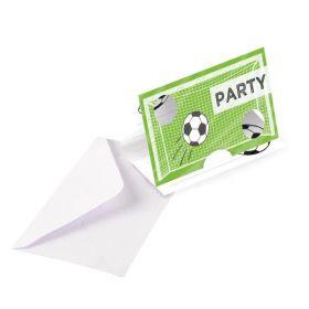 Kicker Party Invitations, pk8