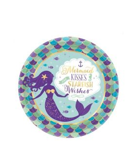 Mermaid Wishes Dinner Plates 23cm, pk8