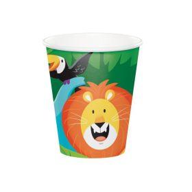 Jungle Safari Party Cups 256ml, pk8