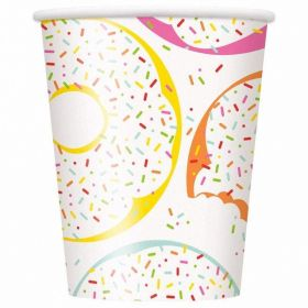 Donut Party Paper Cups 270ml, pk8