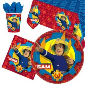 Fireman Sam Party Tableware Pack for 8