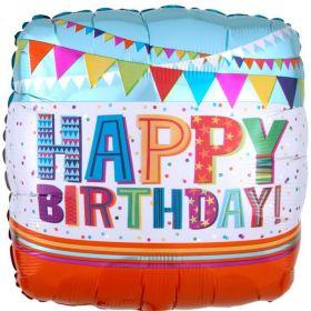 "Bright & Bold Happy Birthday Foil Balloon 17"""