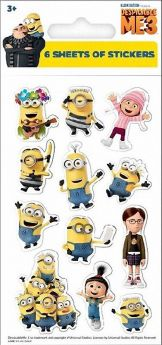 Despicable Me 3 Party Sticker Pack pk6
