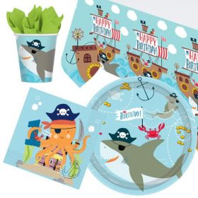 Ahoy 1st Birthday Party Tableware Pack for 8