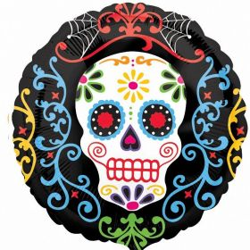 Day of the Dead Pattern Standard Foil Balloon 17''