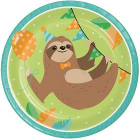 Sloth Party Dinner Plates 23cm, pk8